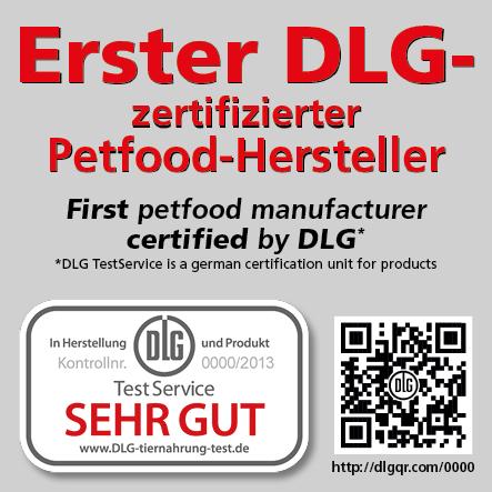 JOSERA Hundefutter DLG Zertifizierung Zertifikat
